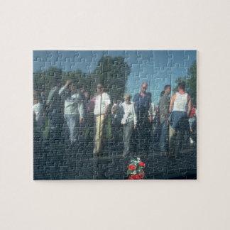 Reflection Vietnam Veterans Wall Washington DC Jigsaw Puzzle