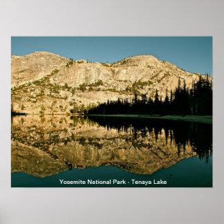 Reflections at Tioga Lake in Yosemite Posters