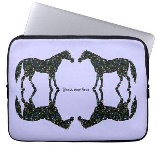 Reflections Blue Horses Laptop Sleeve