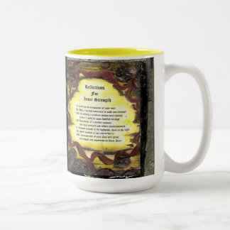 Reflections For Inner Strength Two-Tone Coffee Mug