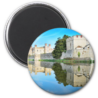 Reflections from a majestic Castle 2 Inch Round Magnet