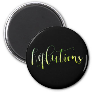 Reflections Gold Green Mint Planner Blog Office Magnet