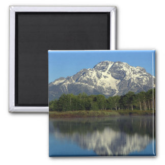 Reflections Grand Tetons Square Magnet