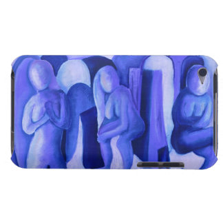 Reflections in Blue II - Abstract Azure Angels iPod Touch Covers