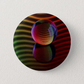 Reflections in the crystal ball 2 inch round button