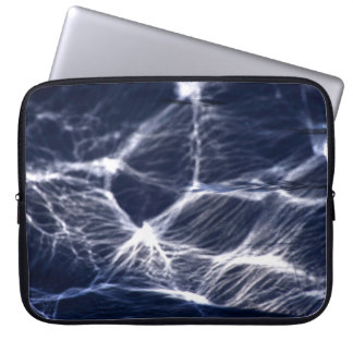 Reflections in the helmet of a fishing boat laptop sleeve