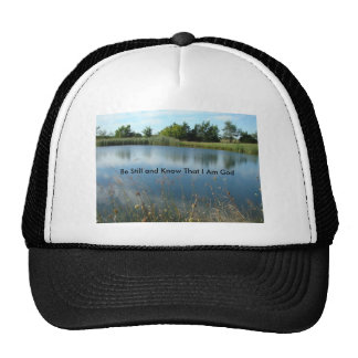 Reflections In The Pond, Be Still and Know That... Trucker Hat