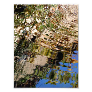 Reflections in the water of a source photo print