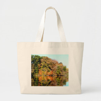 Reflections of Autumn Large Tote Bag