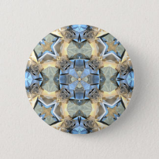 Reflections of Blue And Gold 2 Inch Round Button