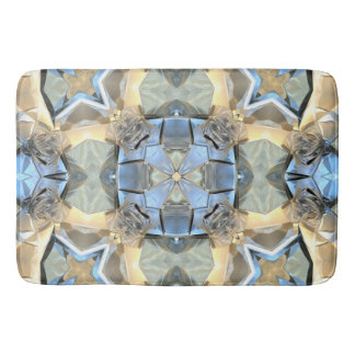Reflections of Blue And Gold Bath Mat