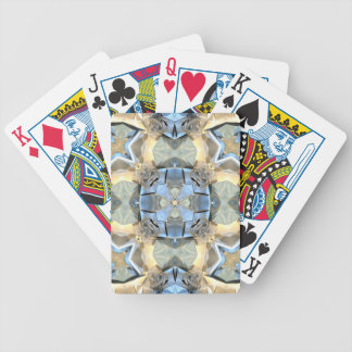 Reflections of Blue And Gold Bicycle Playing Cards