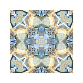 Reflections of Blue And Gold Canvas Print