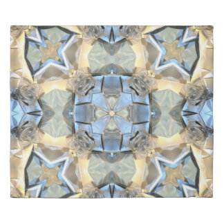 Reflections of Blue And Gold Duvet Cover