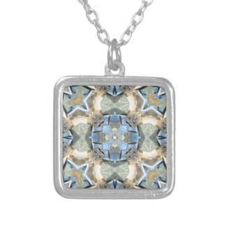 Reflections of Blue And Gold Silver Plated Necklace