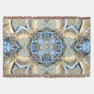 Reflections of Blue And Gold Throw Blanket