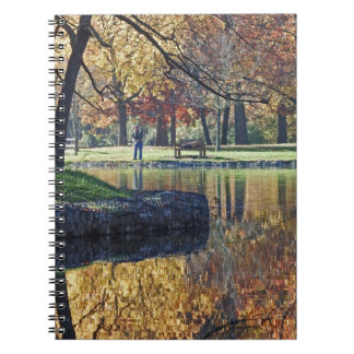 Reflections of Crisp Autumn Trout Fishing Spiral Notebook