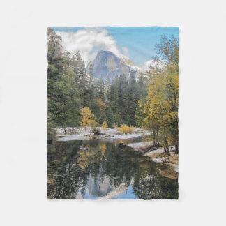 Reflections of Half Dome Fleece Blanket