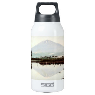 Reflections of Mt. Fuji in Old Japan Vintage Lake Insulated Water Bottle