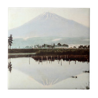 Reflections of Mt. Fuji in Old Japan Vintage Lake Tile