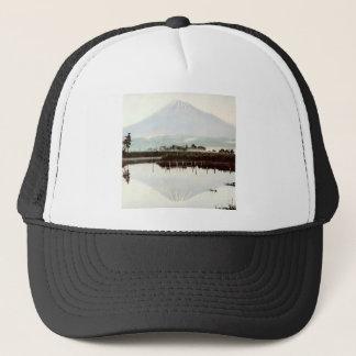 Reflections of Mt. Fuji in Old Japan Vintage Lake Trucker Hat