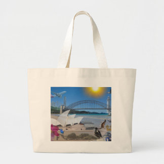 REFLECTIONS OF OZ Brisbane Meets Sydney Large Tote Bag
