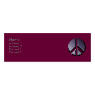Reflections of Peace Profile Card Pack Of Skinny Business Cards