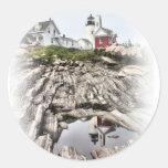 Reflections of Pemaquid Round Sticker