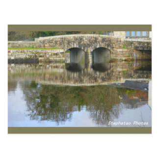 Reflections of the bridge of Huelgoat BRITTANY Postcard
