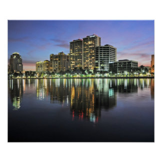 Reflections of West Palm Beach Florida Poster