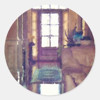 Reflections On Interior Design Round Sticker