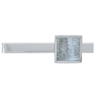 Reflections on the ice Tie Bar Silver Finish Tie Clip