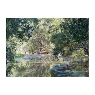 Reflections on the lagoon acrylic wall art