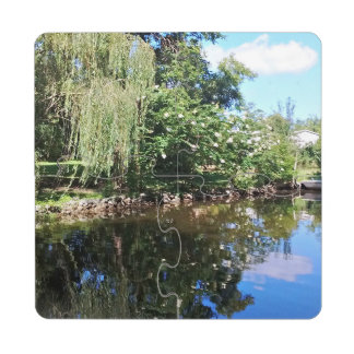 Reflections on the water. drink coaster puzzle