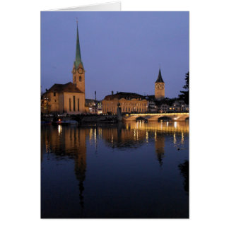 Reflections on Zurich, Switzerland Greeting Card