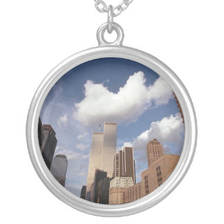 Reflections The Twin Towers World Trade Center Silver Plated Necklace