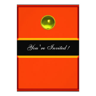 REFLECTIONS  TOPAZ , black yellow orange Personalized Announcement