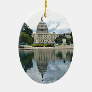 Reflections- US Capitol Ceramic Oval Ornament