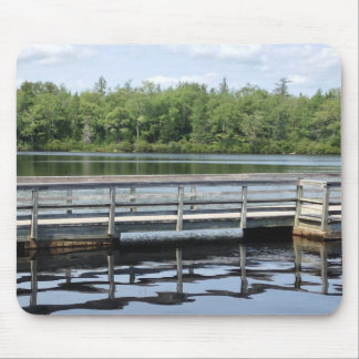 reflections wooden wharf and water mouse pad