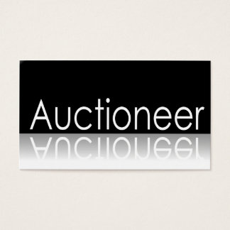 Reflective - Auctioneer - Business Card