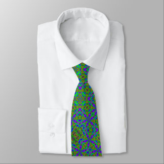 Reflective Lollipop Acid Trip Foulard Satin Tie