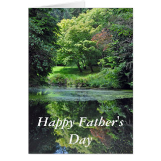 Reflective pond Father's Day Card