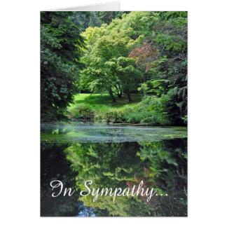 Reflective pond sympathy card