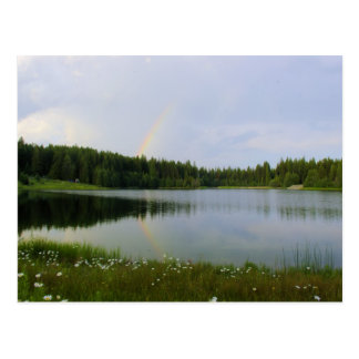 Reflective Rainbow - Marshall Lake Postcard