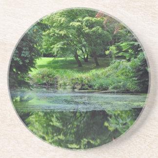 Reflective spring pond coaster