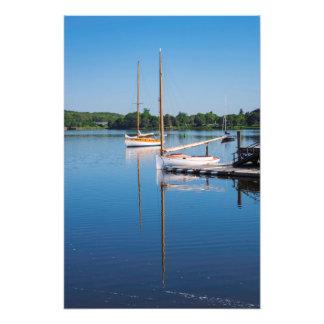 Reflective Sunday Morning Sailboats Photo Print
