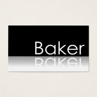 Reflective Text - Baker - Business Card