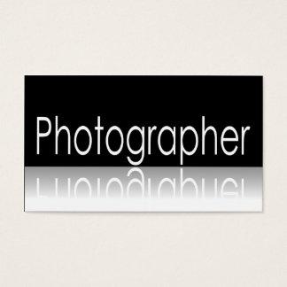 Reflective Text - Photographer - Business Card