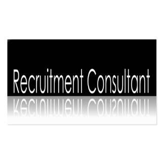 Reflective Text - Recruitment Consultant Pack Of Standard Business Cards