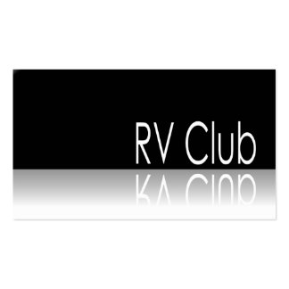 Reflective Text - RV Club - Promo Business Card